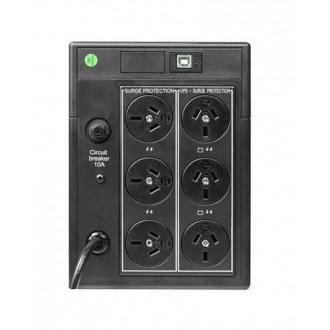 Dynamix UPSD1200 Defender 1200VA (720W) Line Interactive UPS, 6x power sockets